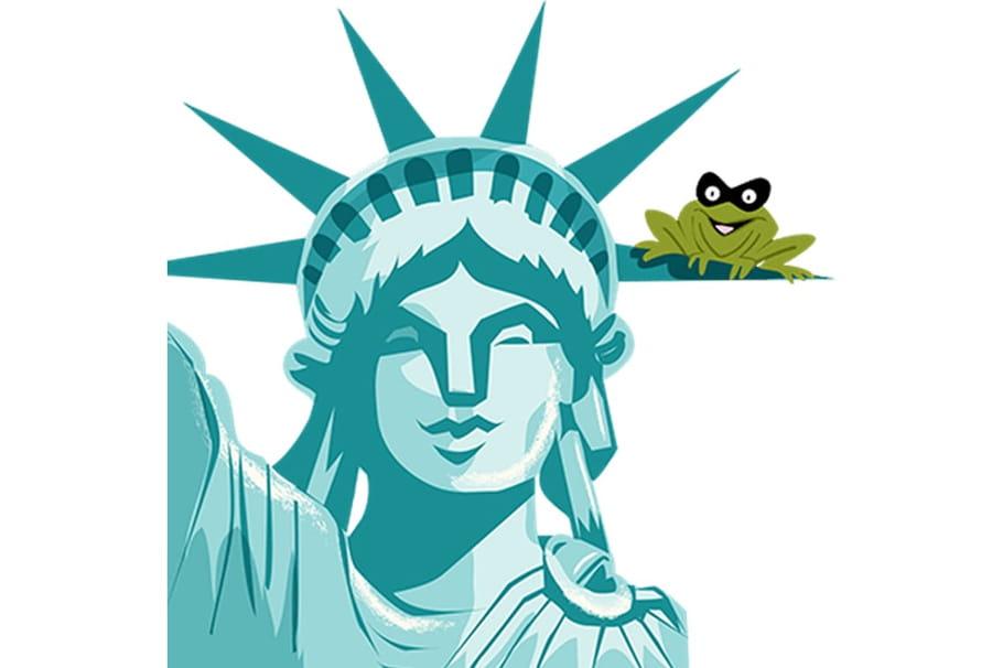Une grenouille en plein New York