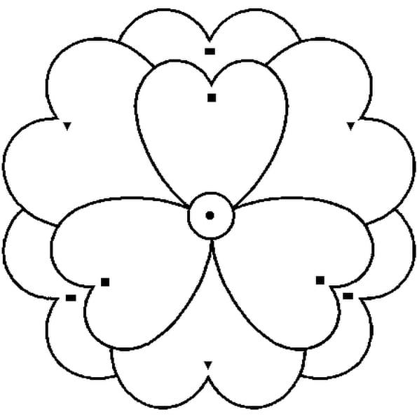 Coloriage Magique fleur en Ligne Gratuit à imprimer