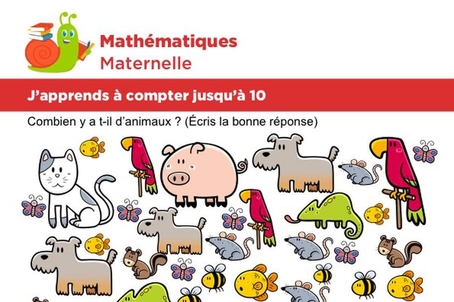 Mathématiques fiche 4, j'apprends à compter jusqu'à 10