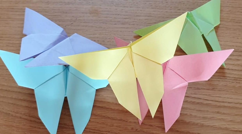 Papillon en origami, pliage papier [VIDEO]