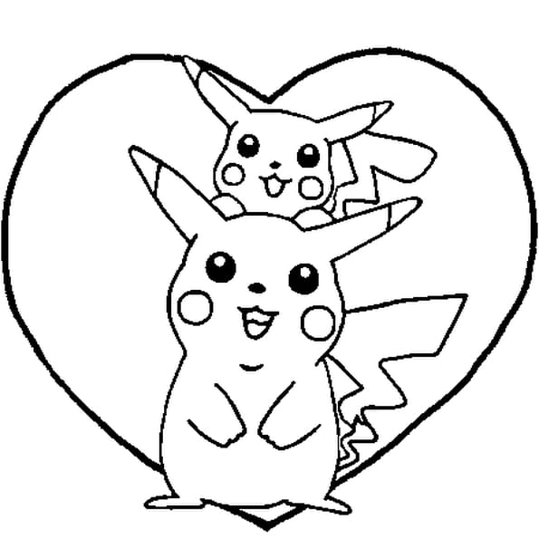 Dessin pikachu a colorier