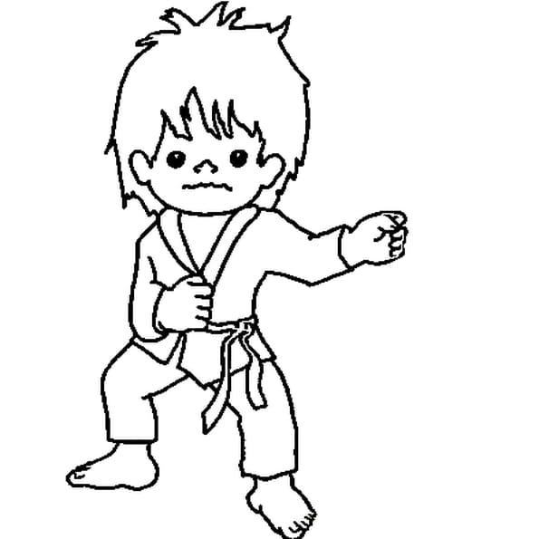 Dessin judo a colorier