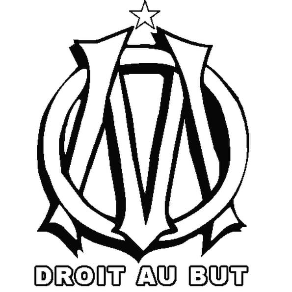 Coloriage om en ligne gratuit imprimer - Logo de l olympique de marseille ...