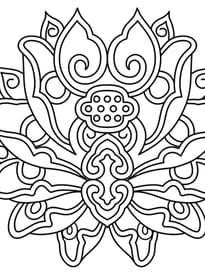 Fleur de lotus mandala