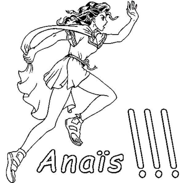 Dessin Anaïs a colorier
