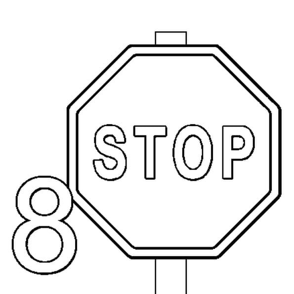 coloriage de panneaux du code de la route