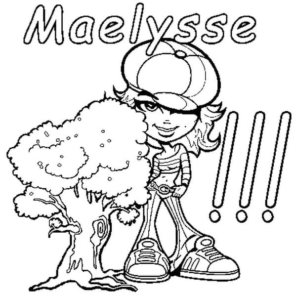 Dessin Maelysse a colorier