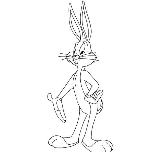 Dessin bugs bunny a colorier