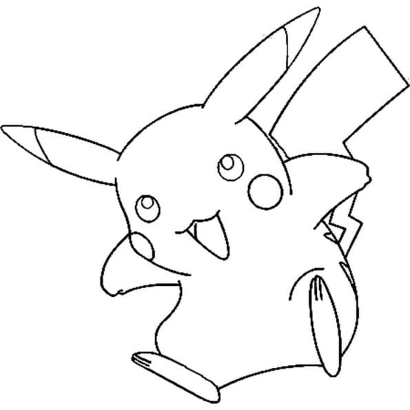 Dessin Pokémon pikachu a colorier