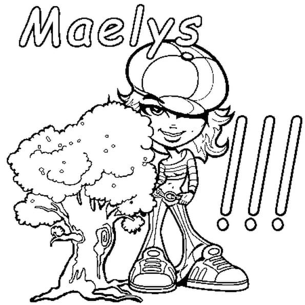 Dessin Maelys a colorier