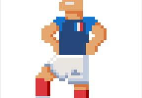 Footballeur équipe de France en pixel art