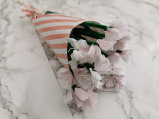 Votre bouquet de fleurs en papier est terminé