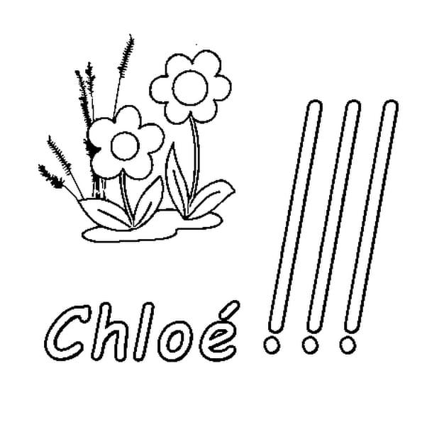 Dessin Chloé a colorier