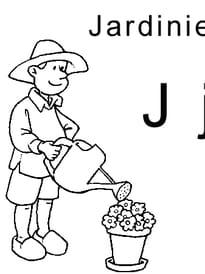 lettre J comme jardinier