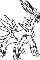 Coloriage Pokémon Dialga en Ligne Gratuit à imprimer
