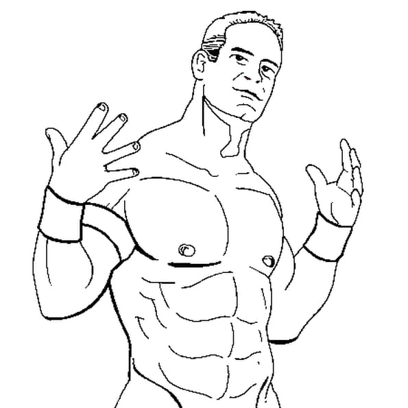 Coloriage John Cena En Ligne Gratuit A Imprimer