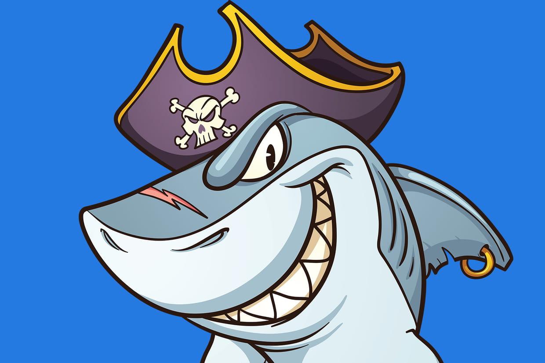 Coloriage requin sur - Requin rigolo ...