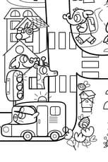 Coloriage géant du jeu de la route numéro6