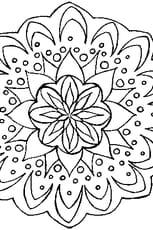 coloriage mandala poisson en ligne gratuit à imprimer