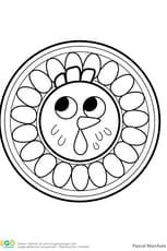 Mandala poule, pour les petits