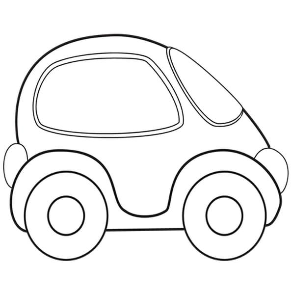 Coloriage petite voiture en ligne gratuit imprimer - Voiture simple a dessiner ...