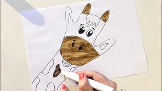 Etape 4: colorier la girafe
