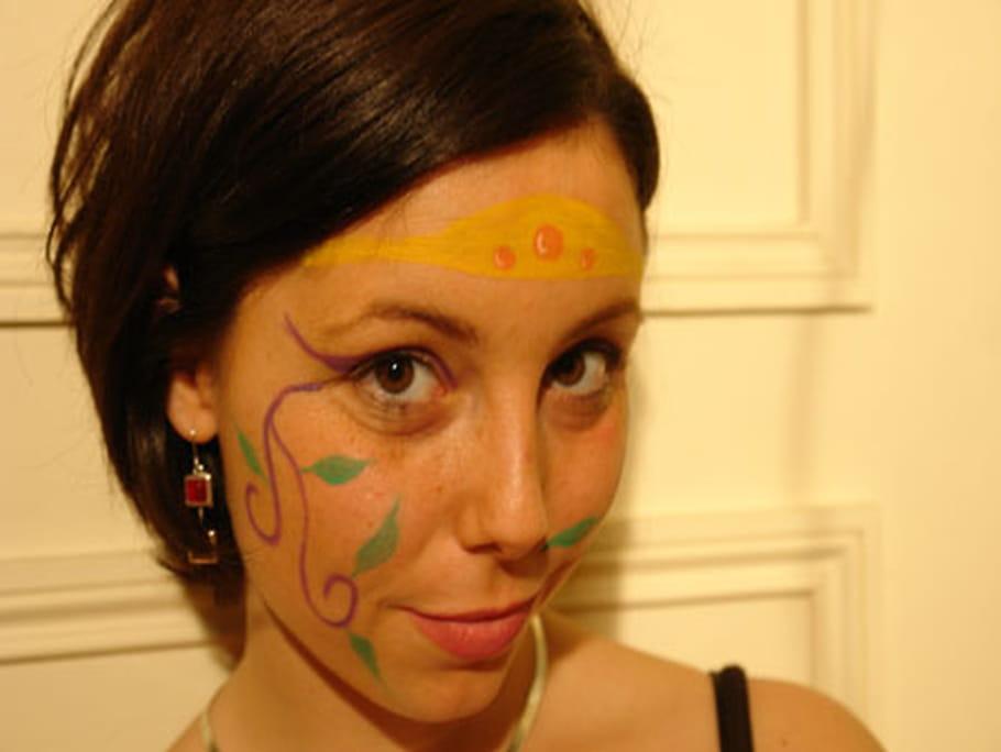Maquillage de Princesse des forêts