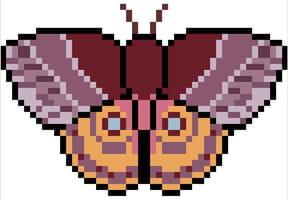 Papillon de nuit en pixel art