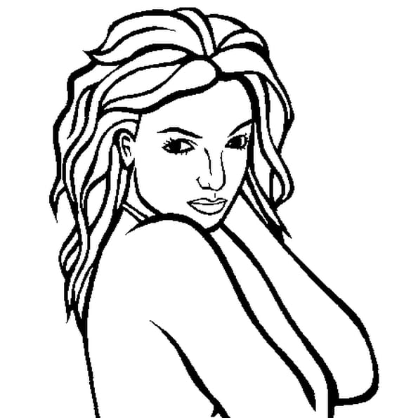 Dessin Britney Spears a colorier
