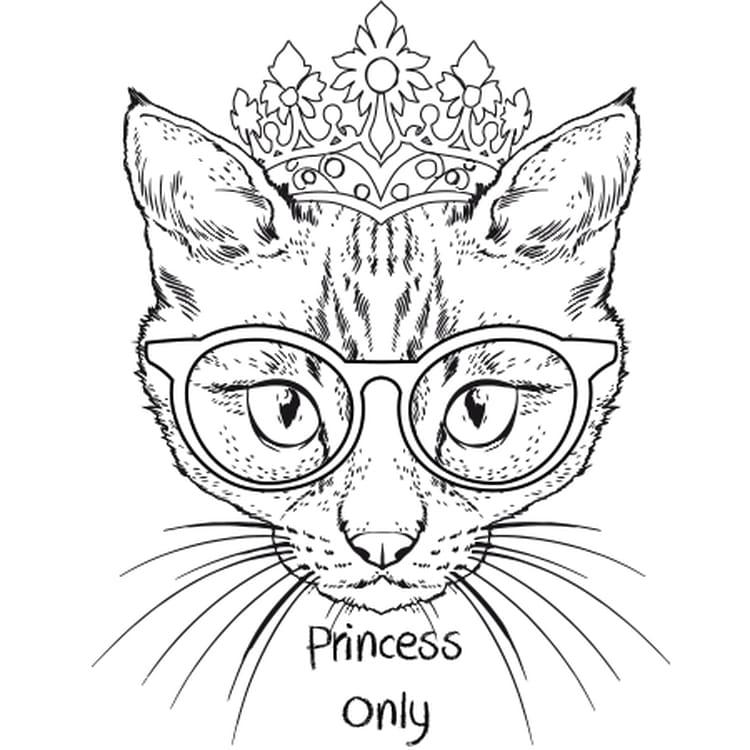coloriage chat princesse en ligne gratuit imprimer - Princesse A Colorier