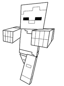 mutant minecraft coloring pages online - photo#45