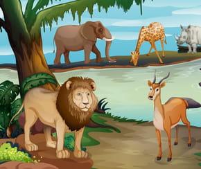 Le lion et la gazelle