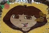 Gâteau d'anniversaire Dora l'exploratrice