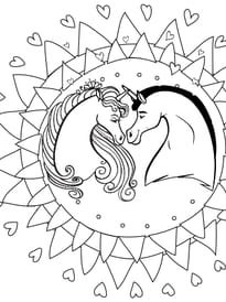 Mandala Licorne