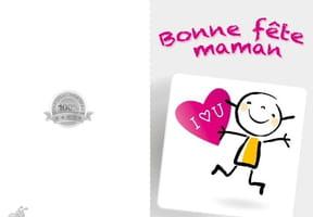 Carte fête des mères love you