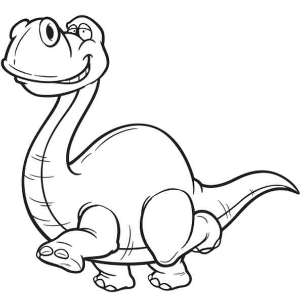 Coloriage Dinosaure au long cou