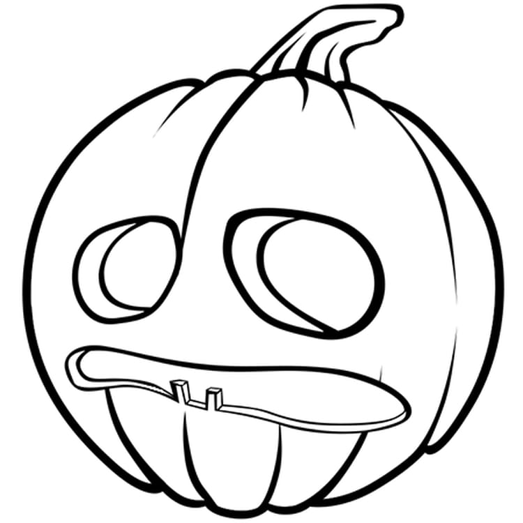 coloriage citrouilles d'halloween sur hugolescargot