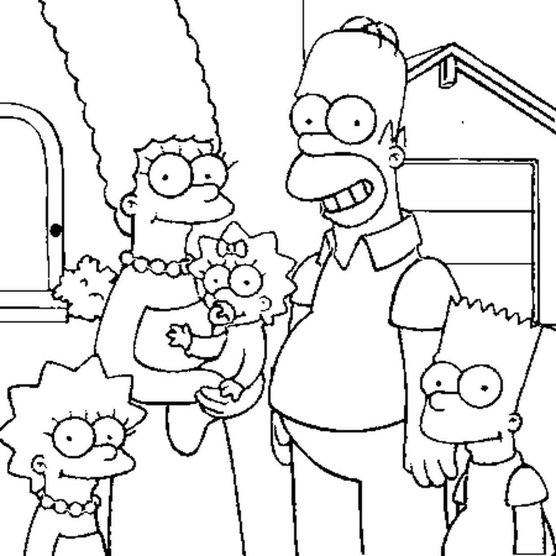 Coloriage Les Simpsons En Ligne Gratuit A Imprimer
