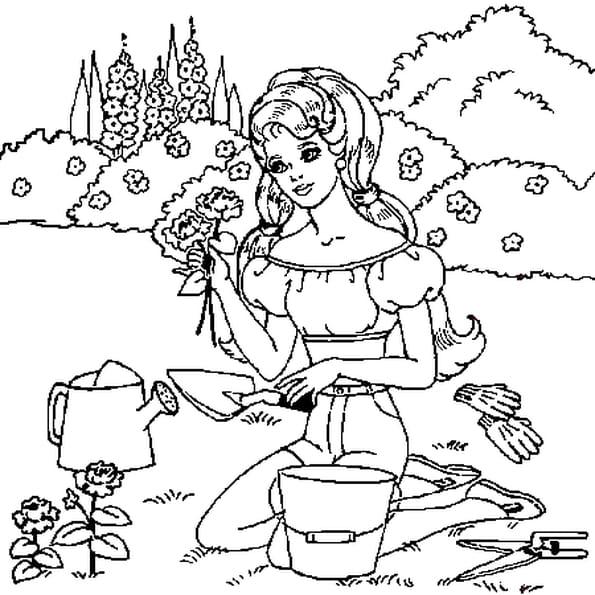 Dessin Jardin a colorier