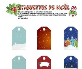 Étiquettes de Noël Village de Noël
