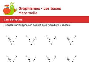 Les bases du graphisme, les obliques niveau 1