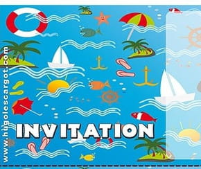 Carte invitation anniversaire marine