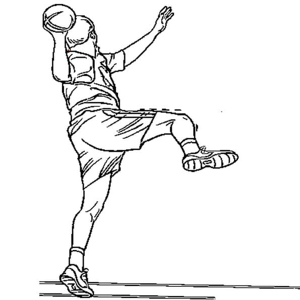 Coloriage handball en Ligne Gratuit à imprimer