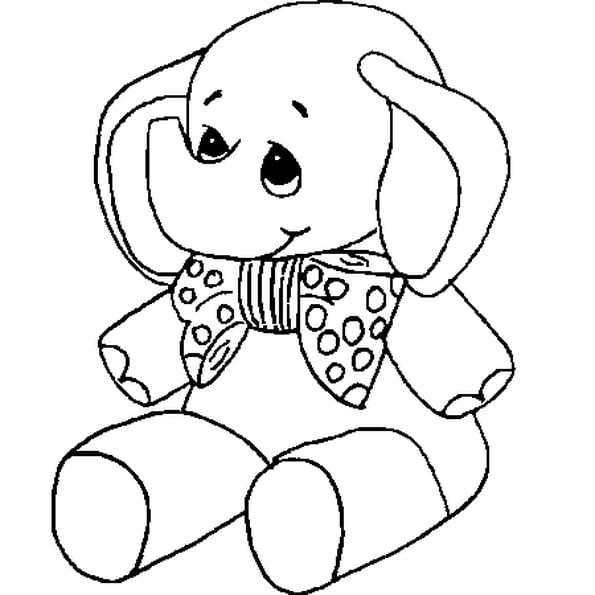 Dessin bébé elephant a colorier