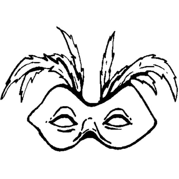 Coloriage Masque Pour Carnaval En Ligne Gratuit A Imprimer