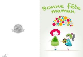 Carte fête des mères maman et fille
