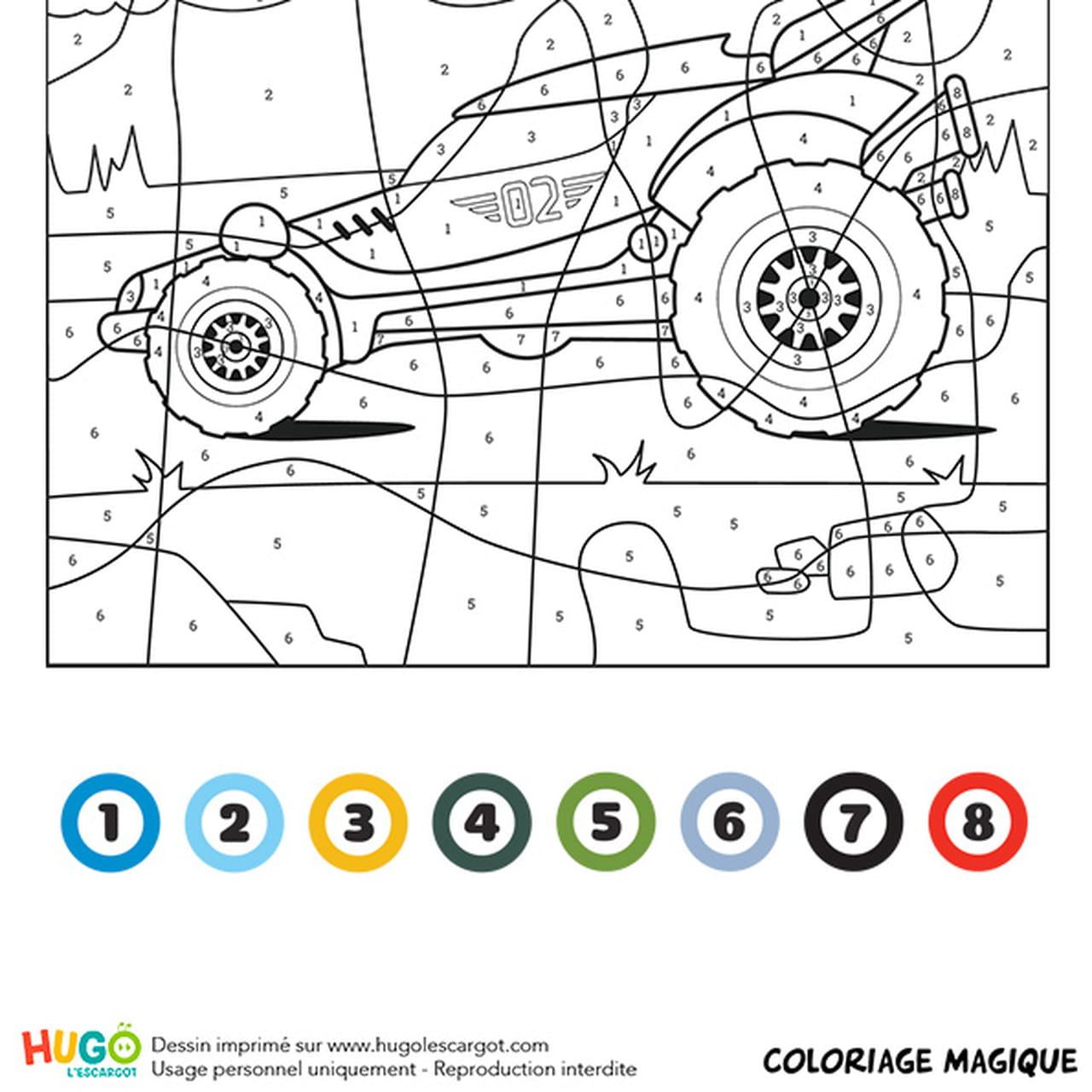 Coloriage Magique Ce1 Un Buggy