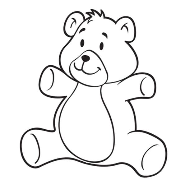 Coloriage ours en peluche classique en ligne gratuit - Dessin d un ours ...