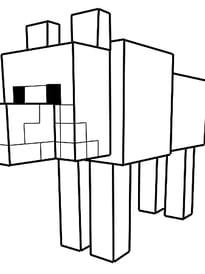 Le loup dans Minecraft
