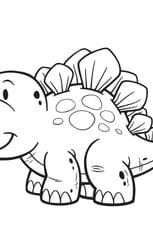 Coloriage Dinosaure facile